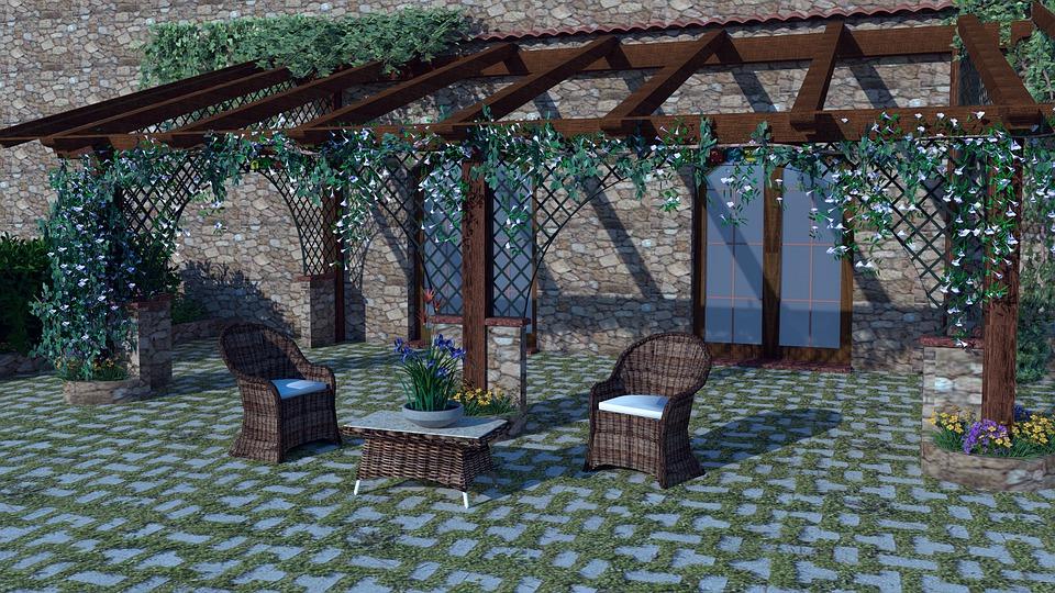 Pergola na verandě