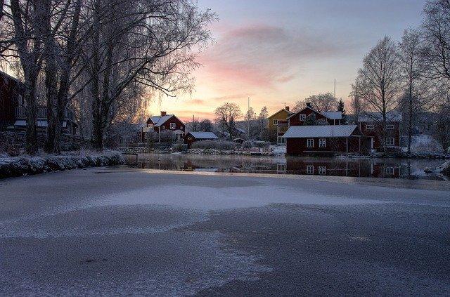 zamrzlý rybníček