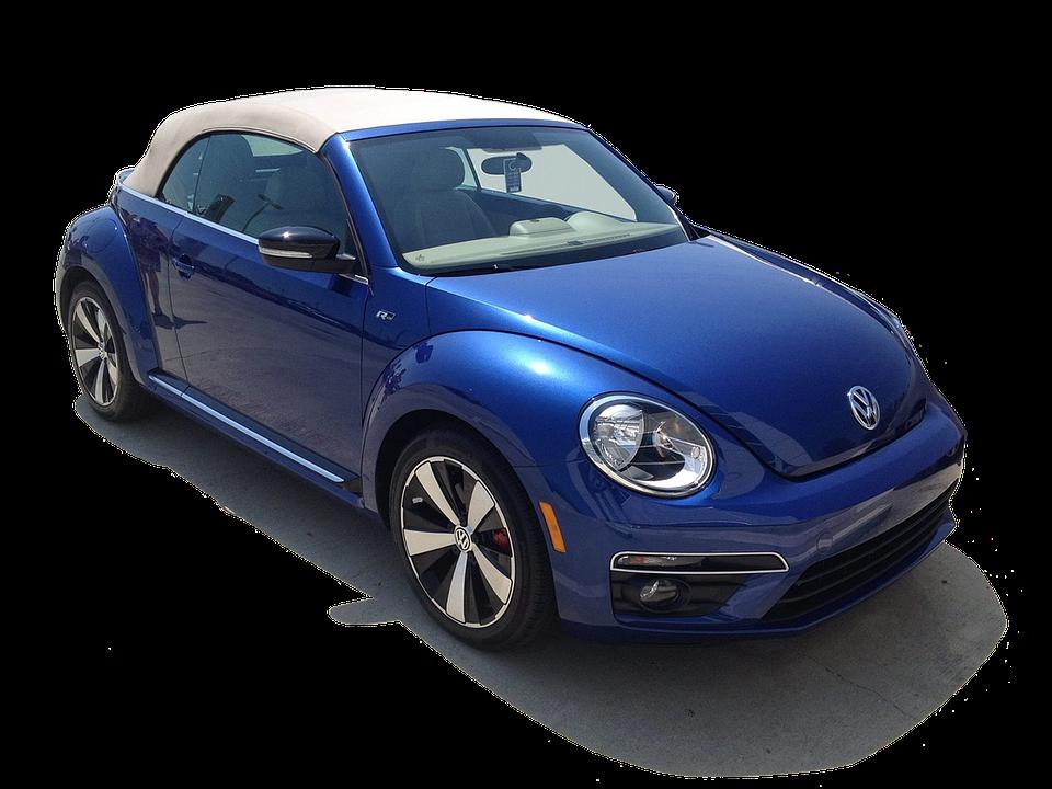 modrý Volkswage